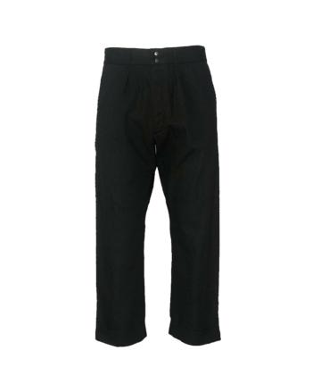 fujito wide cotton black trousers