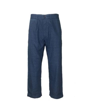 Fujito wide trousers blue